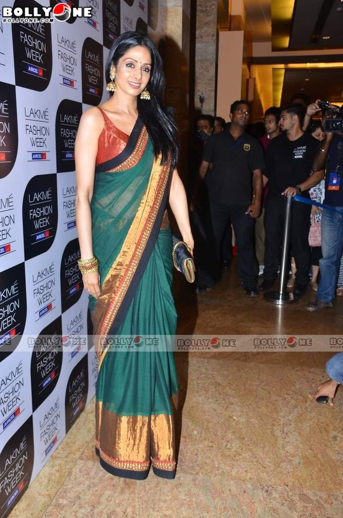 , 50+ Hot Sridevi At Sabyasachi's Show At Lakme Fashion Week