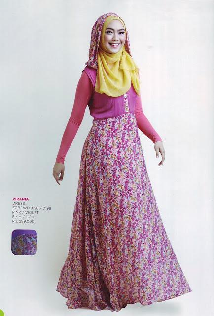 Zoya Muslim Fashion Busana Terbaru Dress Virania Rp 299 000