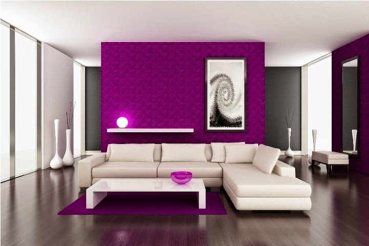 Wall paint colors for living room ideas for Living room ideas purple