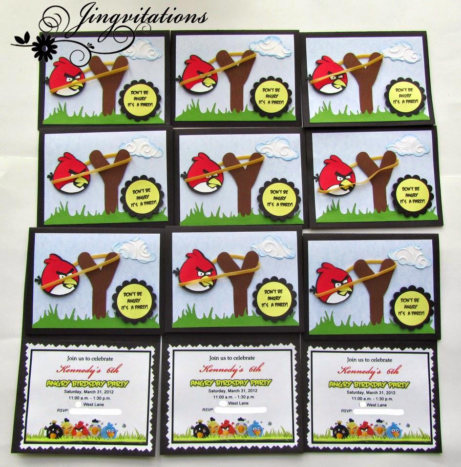 Jingvitations: Angry Birds Invitations