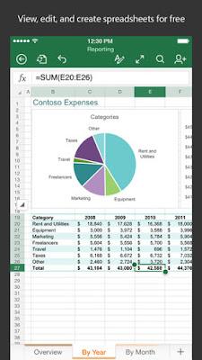 تطبيق ميكروسوفت إكسيل الرسمي لأنظمة أندرويد و Microsoft Excel APK-iOS