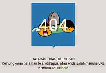 Membuat Pesan Gambar Halaman Error 404