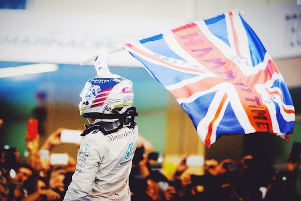 Lewis Hamilton wins the World Championship and the Abu Dhabi Formula One Grand Prix at Yas Marina Circuit on 23rd November 2014 in Abu Dhabi United Arab Emirates
