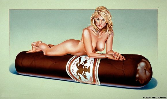Mel Ramos pintura mulheres nuas peladas embalagens chocolate marcas coca cola sensual vintage