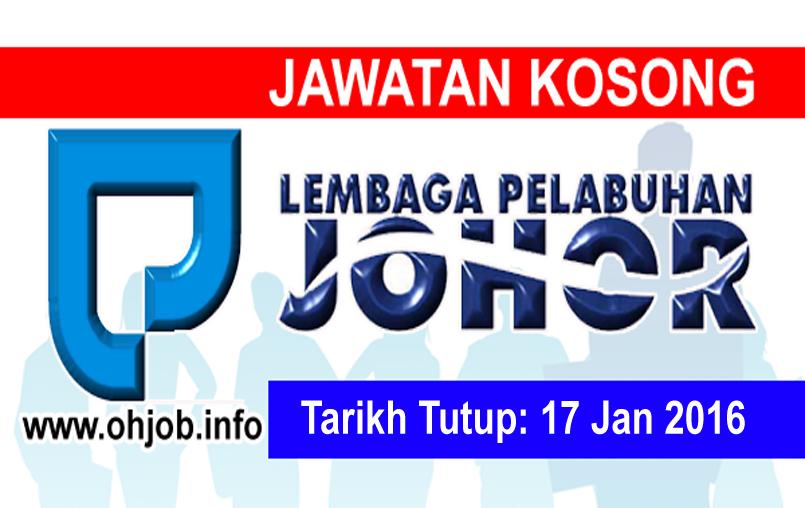 Jawatan Kerja Kosong Lembaga Pelabuhan Johor (LPJ) logo www.ohjob.info januari 2016