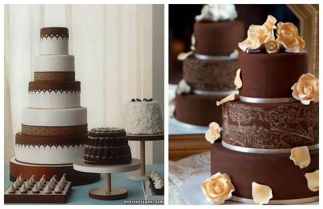 mocha wedding cake