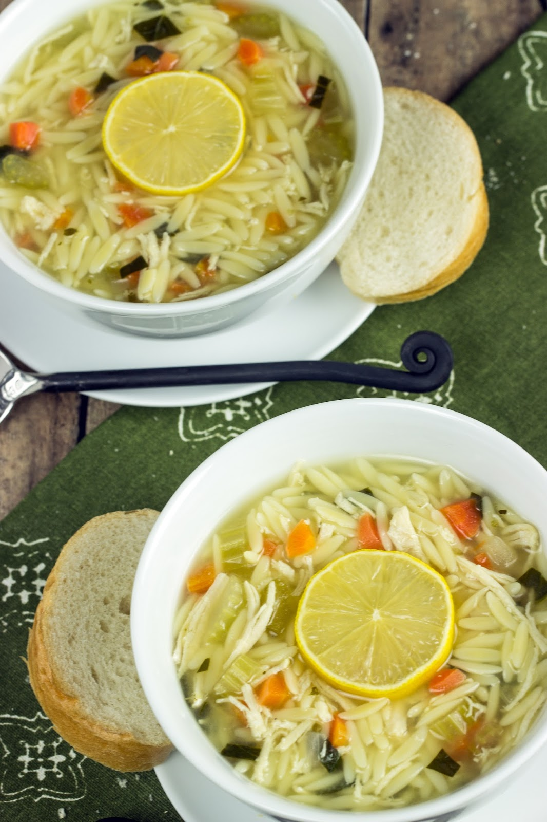 LEMON CHICKEN ORZO SOUP | Cooking on the Front Burner