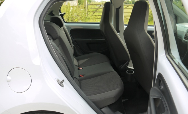 Volkswagen High Up BlueMotion five-door rear interior