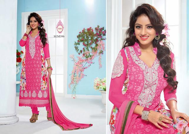 Deepika Singh Georgette Straight Salwar Kameez