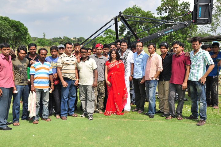 Moushumi with shooting team