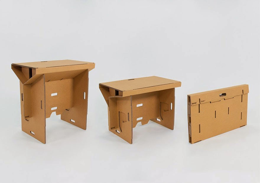 Escritorio Reciclado, Reciclable y Plegable, Muebles Sostenibles