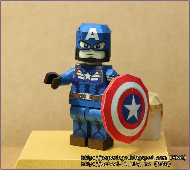 Lego Captain America Paper Craft