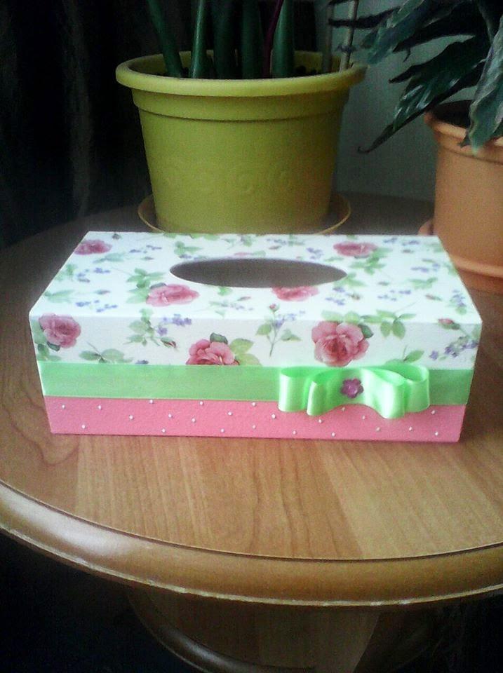 decoupage pudełko na chusteczki