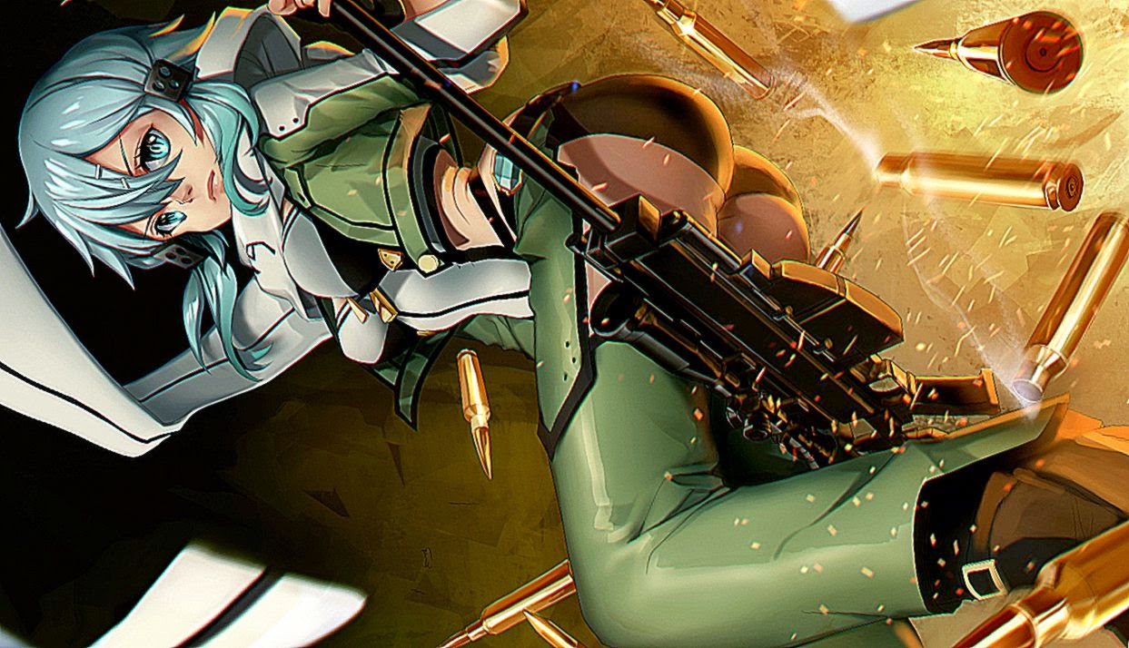 Gun Gale Online Sinon Sniper Hd Wallpaper