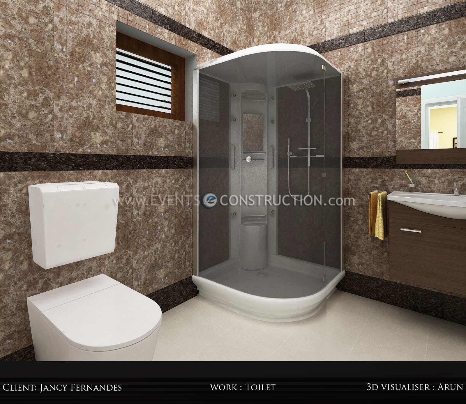 Evens construction pvt ltd bathroom flooring for Bathroom designs in kerala