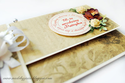 kartki okolicznościowe, kopertówka, prezent na 18 urodziny, bukiet z alkoholem
