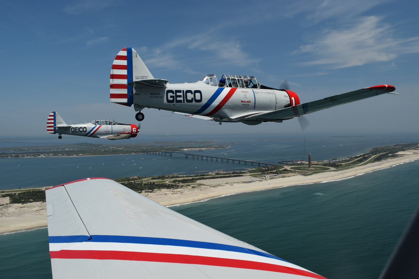 Inside a WWII-Era Plane's Bethpage Air Show at Jones Beach Practice Flight