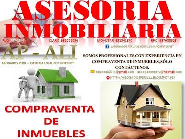 COMPRAVENTA DE INMUEBLES, ASESORÍA LEGAL, COMPRAVENTA DE INMUEBLES FUTUROS, DEPARTAMENTOS EN PLANOS
