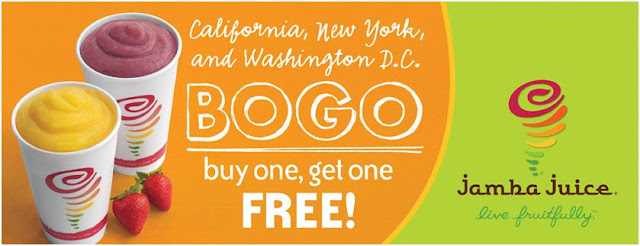 Jamba Juice: B1G1 Free Smoothies