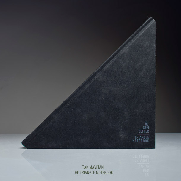 cuaderno,triangular,Tan Mavitan,Triangle Notebook,geometric design,black,negro