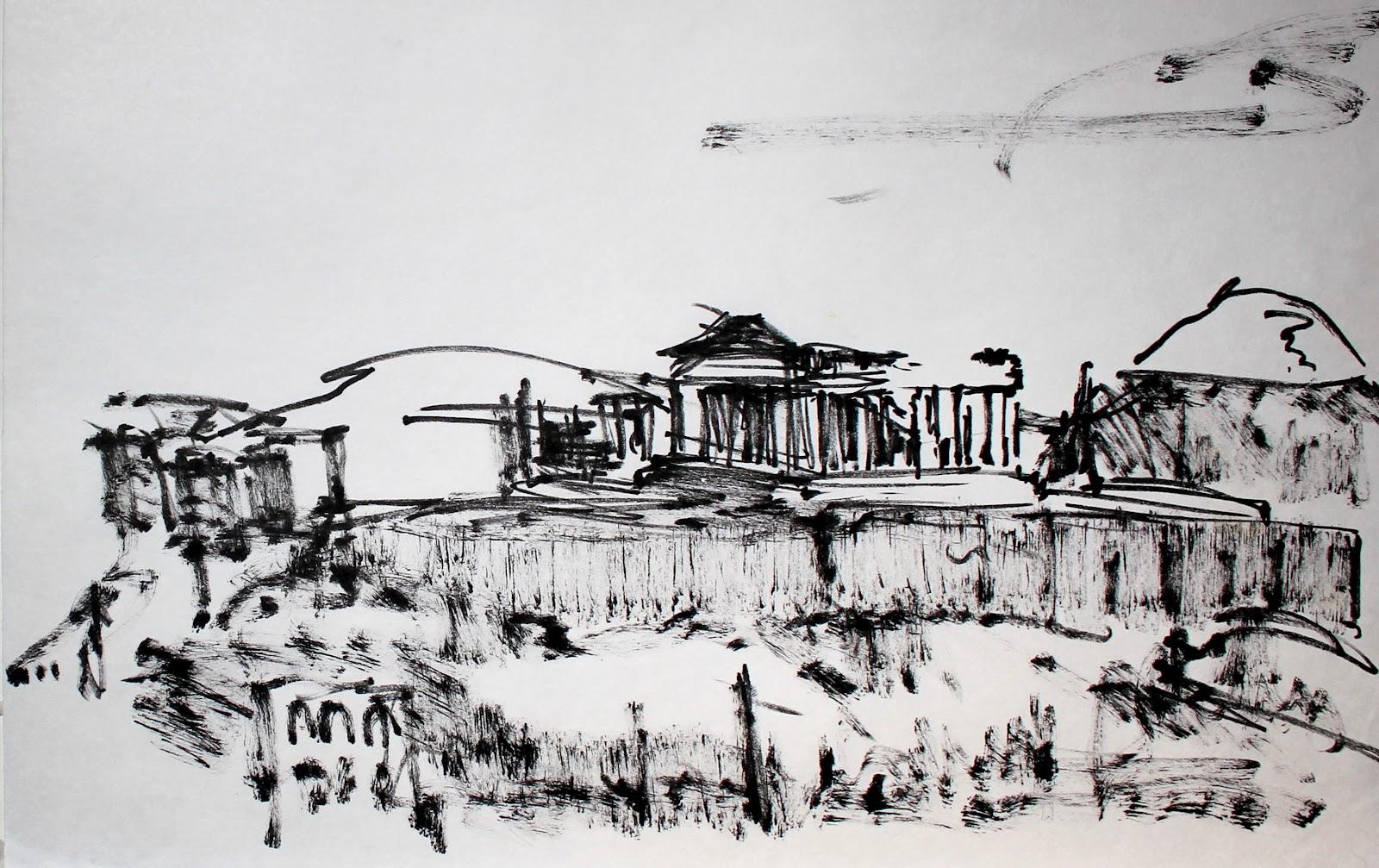 Acropolis Drawing Acropolis drawing