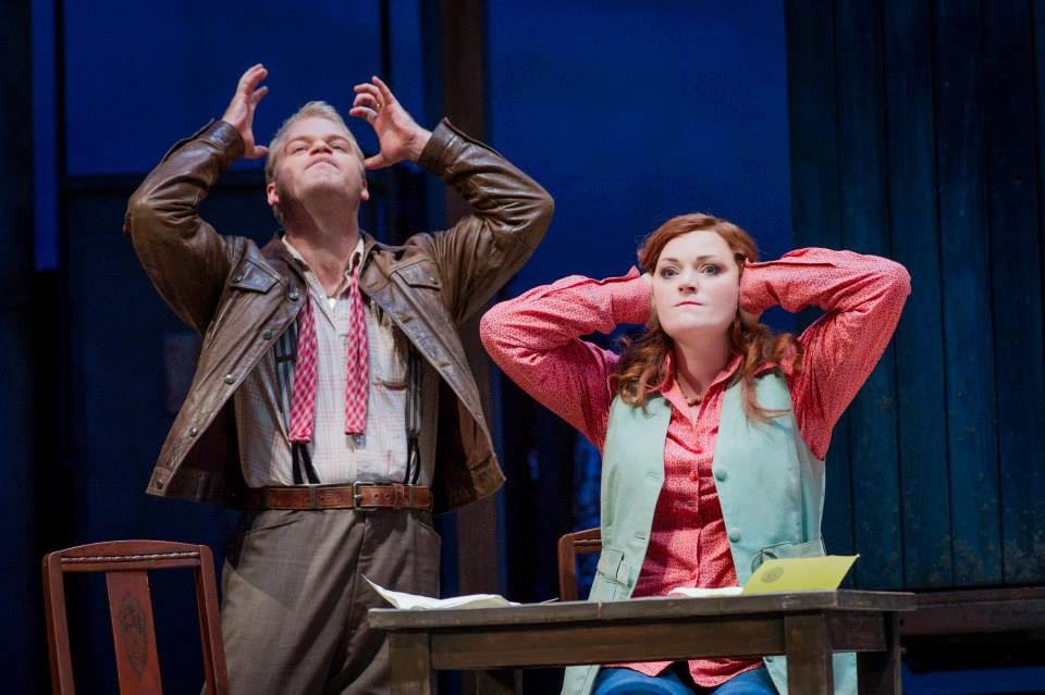 Brendan Gunnell, Kate Valentine - The Bartered Bride - Opera North 2014 Photo Credit: Robert Workman