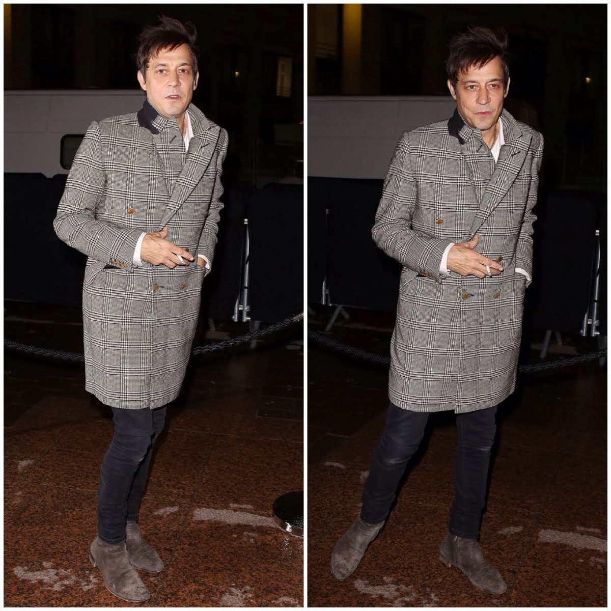 Jamie Hince in Alexander McQueen Bespoke Coat - Paris Fashion Week FW14