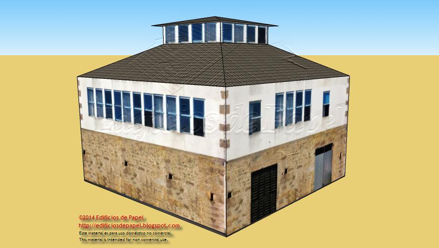 Un edificio original con mirador superior