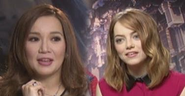 A short interview made by kris aquino when she's in Singapore with Emma Stone or Gwen Stacy on the Upcoming Superhero Movie The Amazing Spiderman 2
