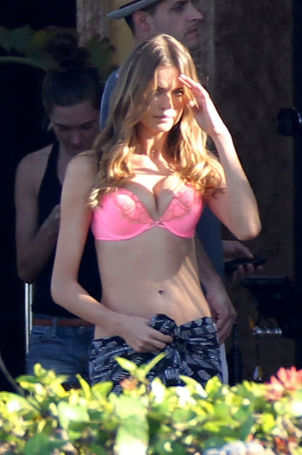 Behati Prinsloo – Victoria's Secret Lingerie Photoshoot Candids