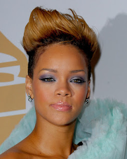 Rihanna with a faux hawk