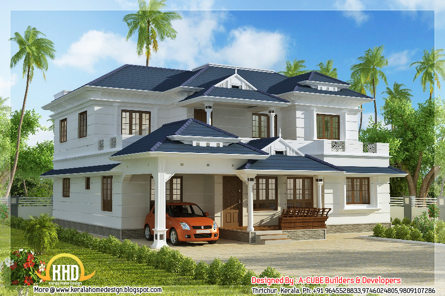Delightful 4 Bedroom 3074 Square Feet Kerala Home Design   May 2012
