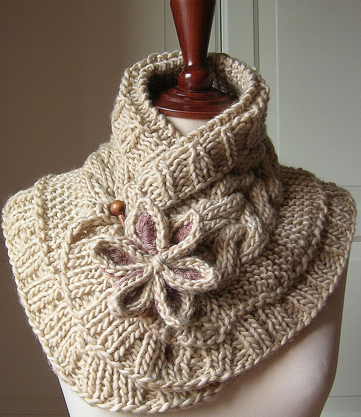 Вязание шарфов спицами фото 2