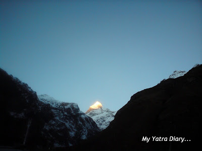 Neelkanth peak in the Garhwal Himalayas, Uttarakhand during 
