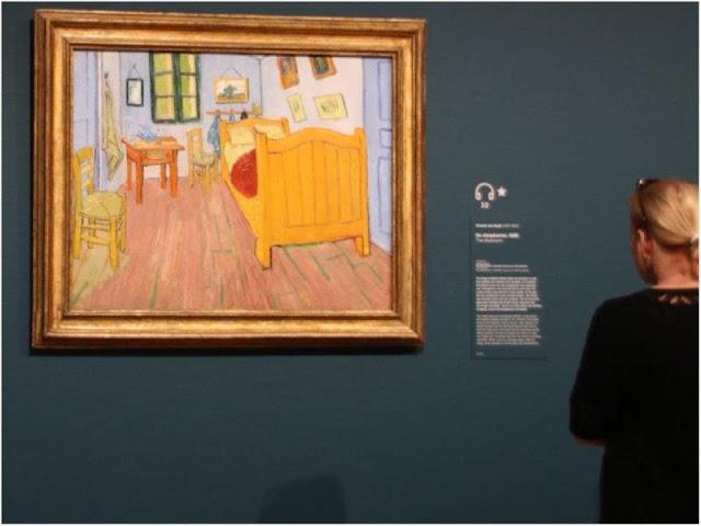 Cuadro El dormitorio en Arles en el Museo Van Gogh en Amsterdam