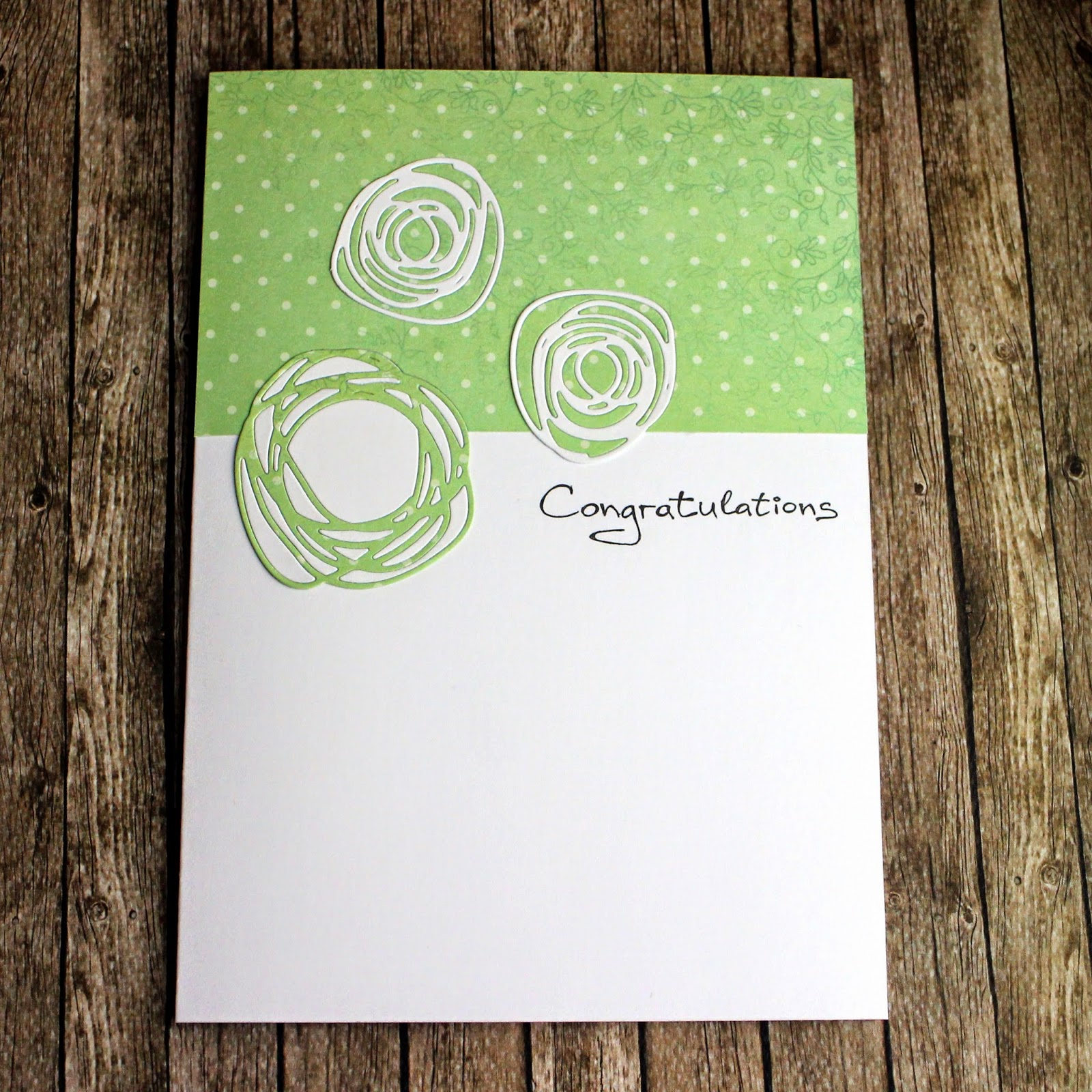Поздравительная открытка в стиле чисто и просто кас скрапбукинг scrapbooking congratulations cas card clean and simple style circle scribbles PTI handmade by hamster-sensey