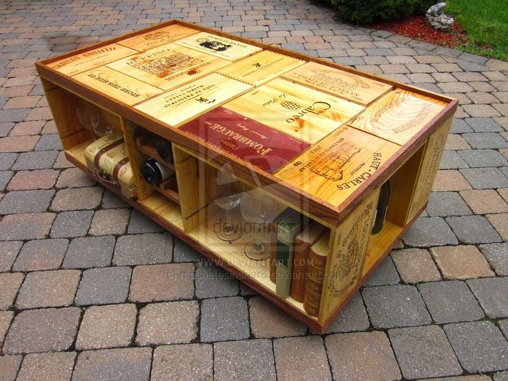 Wooden wine boxes wine crates the top 11 wine crate for Design couchtisch diy