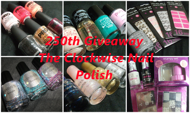 250th Giveaway. The clockwise Nail Polish. Till March 14th. International