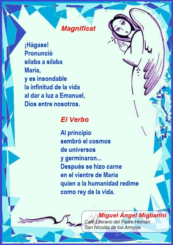 dos poemas miguel angel migliarini magnificat y el verbo