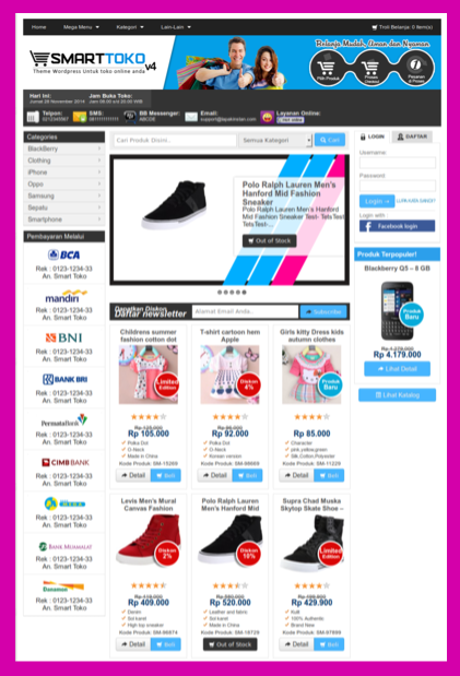 Theme wordpress toko online terbaik