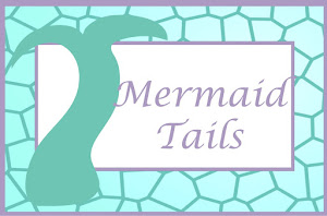 Purple And Aqua Mermaid Food Cards