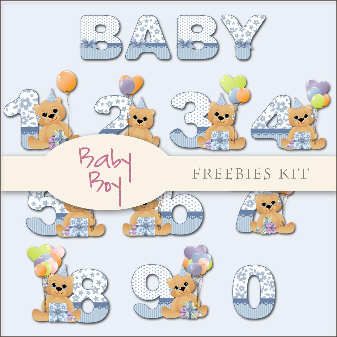 Scrap Dot Freebies Baby Boy Kit