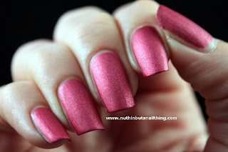 w7 pink suede effects nail polish