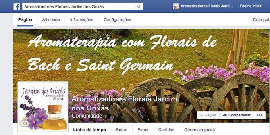 Aromaterapia com florais no facebook: