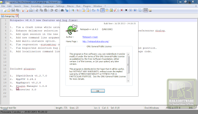Notepad++ 6.4.3 Free Full Version - Screenshot