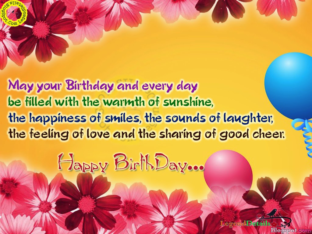 Heart Touching Birthday Hd Greetings Wishes Sms Legendary Quotes