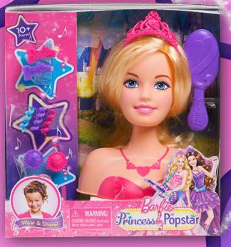 Barbie en la princesa y la cantante busto de barbie en la - Barbie et la princesse pop star ...