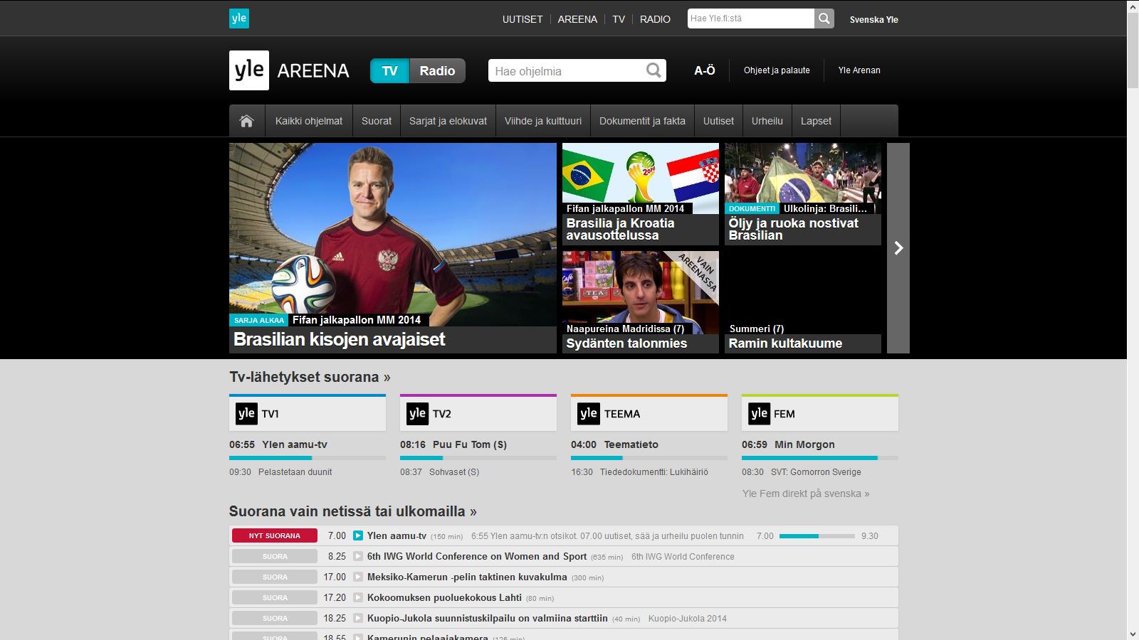 http://areena.yle.fi/tv