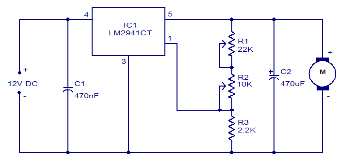 Motor Speed Control Circuit Using Lm2941ct Gadgetronicx