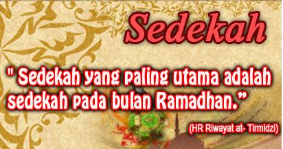 Amalan Sedekah Di Bulan Ramadhan